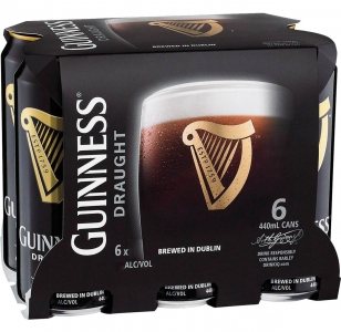Guinness 6 Pack Cans