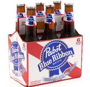PABST BLUE RIBBON Lager 6 Pack Bottles
