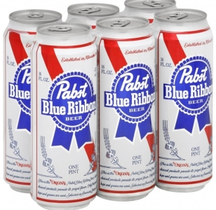 PABST BLUE RIBBON LAGER 6 Pack Cans