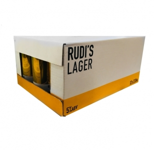 Rudi's Lager 12 Pack 330ml Cans