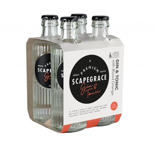 Scapegrace Gin & Tonic with Blood Orange 4 Pack